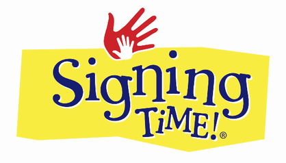 Signing time graphic